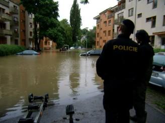 povodeň a Policie