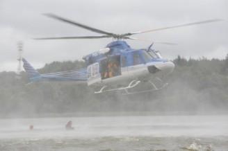 vrtulník voda jezy