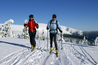 lyžování KRNAP