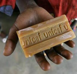 mýdlo UNICEF