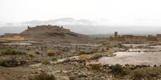 poušť déšť Maroko
