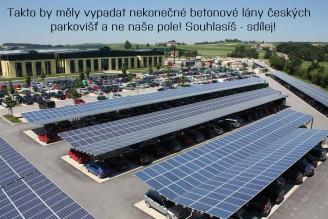 parkoviště auta solární panely