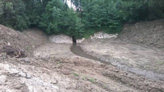 PMO - rybník Čubernice poškozená hráz