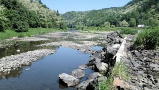 suchý jez Libštejnský mlýn - raft Berounka