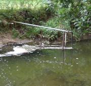 odber vody z potoku