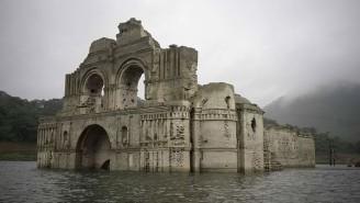 kostel Mexiko vynoření voda sucho