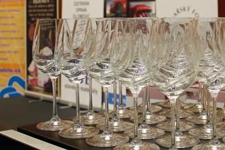 sklenice Crystalex víno degustace - Král vín 2015