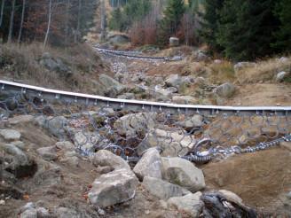 Lesy ČR - Smědavská hora eroze vodohospodářství