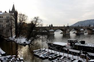 Vltava - Praha - sníh - IMG_0225