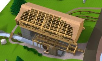 Dřevěná stavba roku 2014 - vodní pila