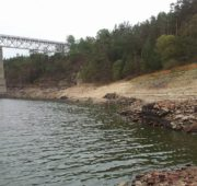 sucho - Orlík 2015 - pokles hladiny o 7 metrů 1