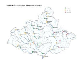 Povodí Moravy - stav červen 2016