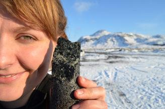 zkamenělý oxid uhličitý