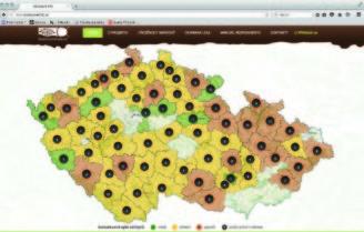 Lesnická práce - mapa kůrovcové info