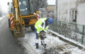 SVAS - opravy potrubí zima 2
