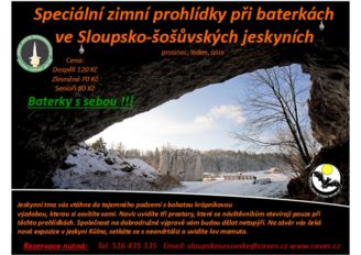 leták Sloupsko-šošůvské jeskyně