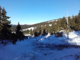 KRNAP málo sněhu prosinec 2016