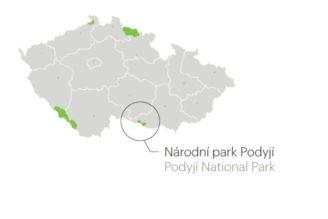 NP v ČR lokality