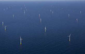 větrná energie - mořská větrná farma osel