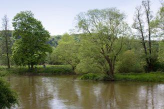 Sázava - původní a nové koryto řeky ve městě Sázava - IMG_9932