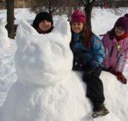 děti sněhulák kočka IMG_0497A