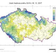 ČHMÚ - zásoby vody ve sněhu 2017 - 2