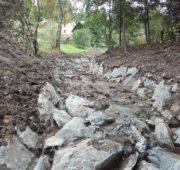 Osečnický potok po rekonstrukci koryta - Lesy ČR