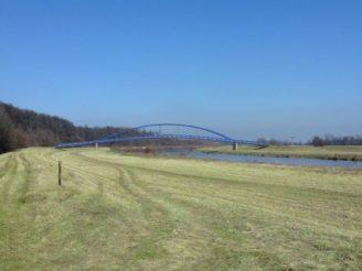 lávka přes řeku Moravy - ČR Slovensko Jihomoravský kraj vizualizace