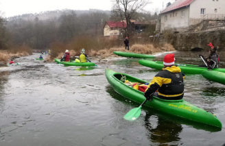 raft - vánoční Sázava