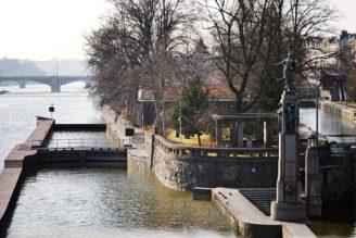 vizualizace plavební komora Smíchov pohled od mostu Legií